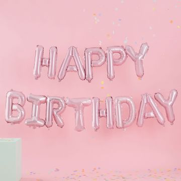 "Pink ""Happy Birthday"" Balloon Bunting"